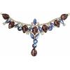 Crystal Motifs T-shape 17x8.5cm Purple Aurora Borealis/gold